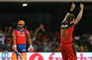 Suresh Raina despairs after pulling Shane Watson to short fine leg, Gujarat Lions v Royal Challengers Bangalore, IPL 2016, Qualifier 1, Bangalore, May 24, 2016