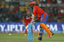 Dinesh Karthik plays onto his stumps, Gujarat Lions v Royal Challengers Bangalore, IPL 2016, Qualifier 1, Bangalore, May 24, 2016