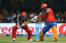 Dwayne Smith cuts through the off side, Gujarat Lions v Royal Challengers Bangalore, IPL 2016, Qualifier 1, Bangalore, May 24, 2016