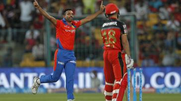 Dhawal Kulkarni rejoices after dismissing Virat Kohli for a duck