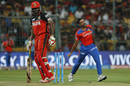 Dhawal Kulkarni is jubilant after having Chris Gayle bowled, Gujarat Lions v Royal Challengers Bangalore, IPL 2016, Qualifier 1, Bangalore, May 24, 2016