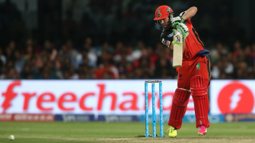 AB de Villiers punches one into the covers