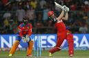 AB de Villiers creams a six down the ground, Gujarat Lions v Royal Challengers Bangalore, IPL 2016, Qualifier 1, Bangalore, May 24, 2016