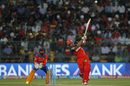 Stuart Binny plays a big shot down the ground, Gujarat Lions v Royal Challengers Bangalore, IPL 2016, Qualifier 1, Bangalore, May 24, 2016