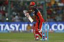 Iqbal Abdulla dabs the ball to third man, Gujarat Lions v Royal Challengers Bangalore, IPL 2016, Qualifier 1, Bangalore, May 24, 2016