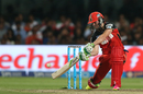 AB de Villiers hits over point, Gujarat Lions v Royal Challengers Bangalore, IPL 2016, Qualifier 1, Bangalore, May 24, 2016