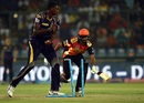 Deepak Hooda is run out after a direct throw from Kuldeep Yadav, Sunrisers Hyderabad v Kolkata Knight Riders, IPL 2016, Delhi, May 25, 2016