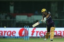 Manish Pandey drives one square of the wicket, Sunrisers Hyderabad v Kolkata Knight Riders, IPL 2016, Delhi, May 25, 2016