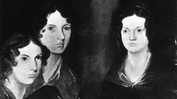 From left to right: Anne, Emily and Charlotte Brontë in a portrait by their brother Branwell