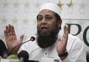Inzamam-ul-Haq addresses a press conference, Lahore, May 25, 2016
