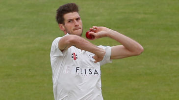 David Payne bowls for Gloucestershire