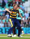 Timm van der Gugten finished with 4 for 14, Surrey v Glamorgan, NatWest T20 Blast, South Group, Kia Oval, May 26, 2016