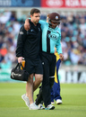 Azhar Mahmood was forced to retire hurt, Surrey v Glamorgan, NatWest T20 Blast, South Group, Kia Oval, May 26, 2016