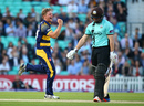 Timm van der Gugten removes Gary Wilson, Surrey v Glamorgan, NatWest T20 Blast, South Group, Kia Oval, May 26, 2016