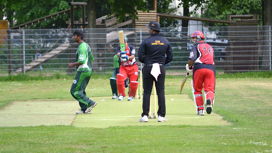 Action from a T20 competition in Bremen, Germany