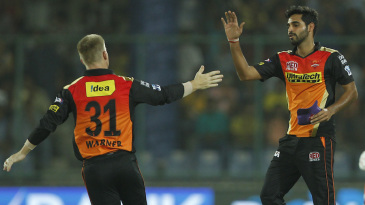 Bhuvneshwar Kumar struck in the first over of the match
