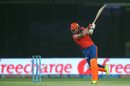 Brendon McCullum slams one to the off side, Sunrisers Hyderabad v Gujarat Lions, IPL 2016, Delhi, May 27, 2016