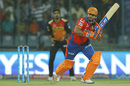 Suresh Raina works one to the leg side, Sunrisers Hyderabad v Gujarat Lions, IPL 2016, Delhi, May 27, 2016