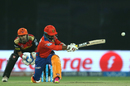 Dinesh Karthik sweeps in the air, Sunrisers Hyderabad v Gujarat Lions, IPL 2016, Delhi, May 27, 2016