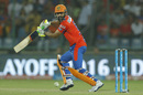 Ravindra Jadeja runs one down to third man, Sunrisers Hyderabad v Gujarat Lions, IPL 2016, Delhi, May 27, 2016