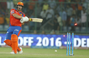 Aaron Finch is bowled off a full toss, Sunrisers Hyderabad v Gujarat Lions, IPL 2016, Delhi, May 27, 2016