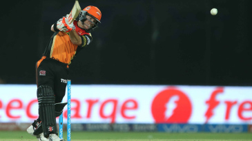 David Warner drills one down the ground