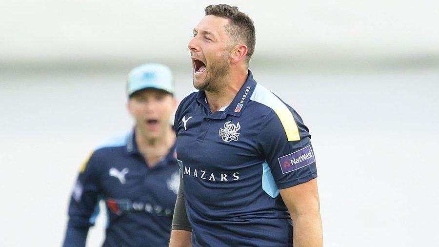 Tim Bresnan roars in celebration