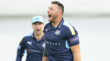 Tim Bresnan roars in celebration