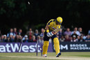 Sean Ervine lost his middle stump first ball, Middlesex v Hampshire, NatWest T20 Blast, South Group, Uxbridge, May 27, 2016