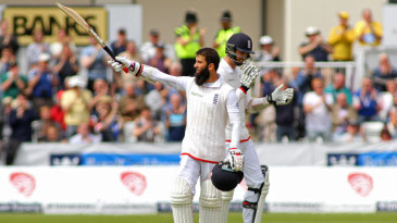 Moeen Ali's second Test hundred came two years after his first