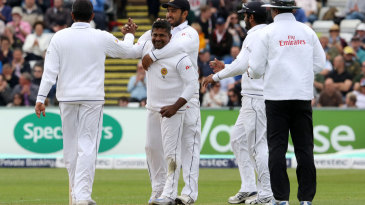 Rangana Herath finally notched his 300th Test wicket
