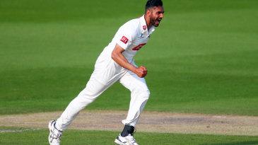 Ajmal Shahzad delivered a three-wicket burst