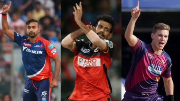 Composite: Legspinners Amit Mishra, Yuzvendra Chahal and Adam Zampa