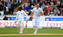 Chris Woakes claimed the first breakthrough of the second innings, England v Sri Lanka, 2nd Test, Chester-le-Street, 3rd day, May 29, 2016