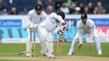 Lahiru Thirimanne was bowled by a beauty from Moeen Ali
