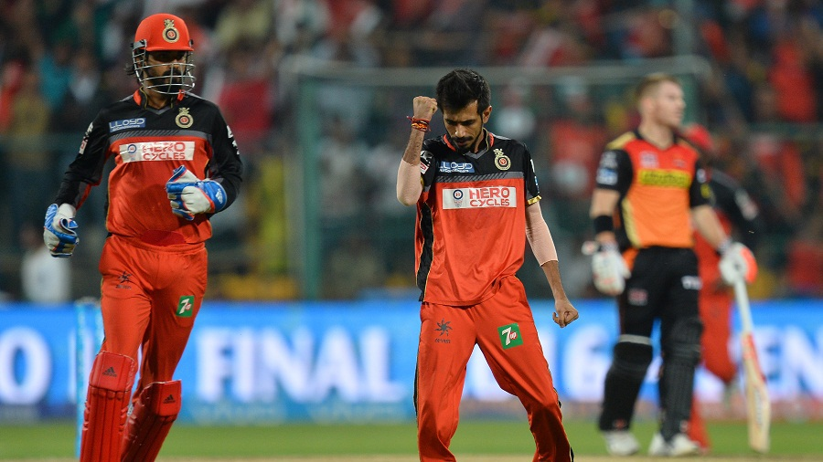 Yuzvendra Chahal dismissed Shikhar Dhawan for 28
