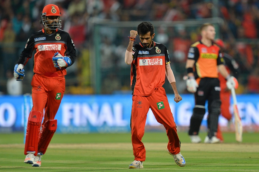 The Royal Challengers bowlers, however, chipped away at the wickets to stall Sunrisers' surge