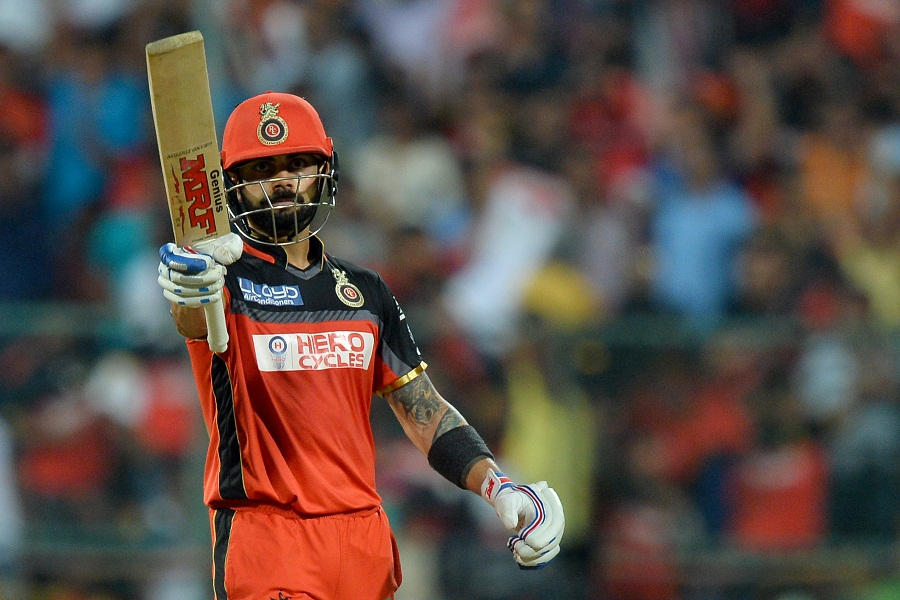 Kohli then cut loose to reach his fifty in 32 balls...