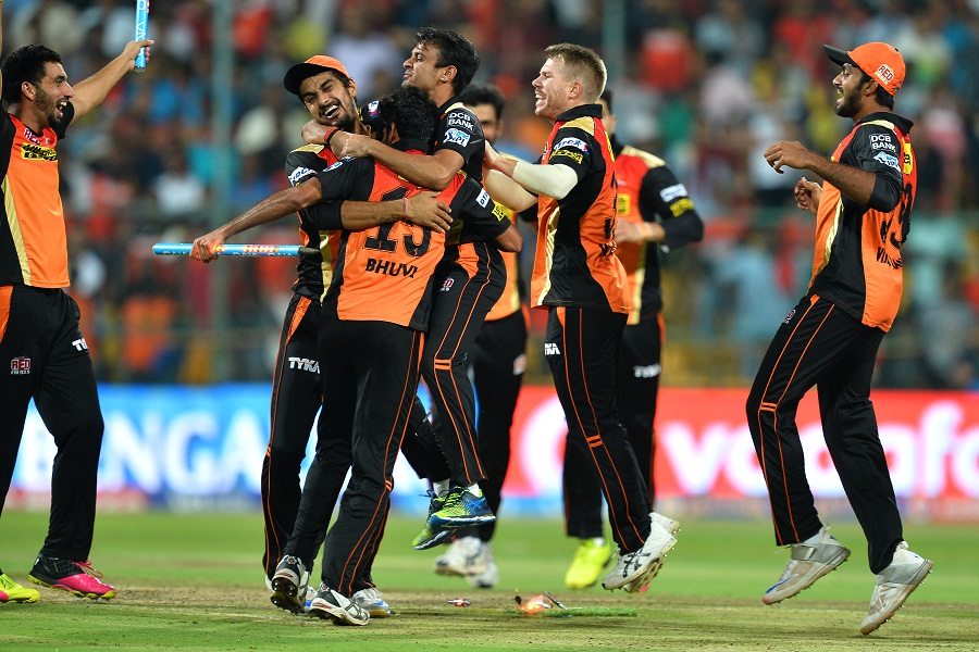 With Royal Challengers needing 18 off the final over, Bhuvneshwar Kumar conceded only nine to help his side seal their maiden IPL title