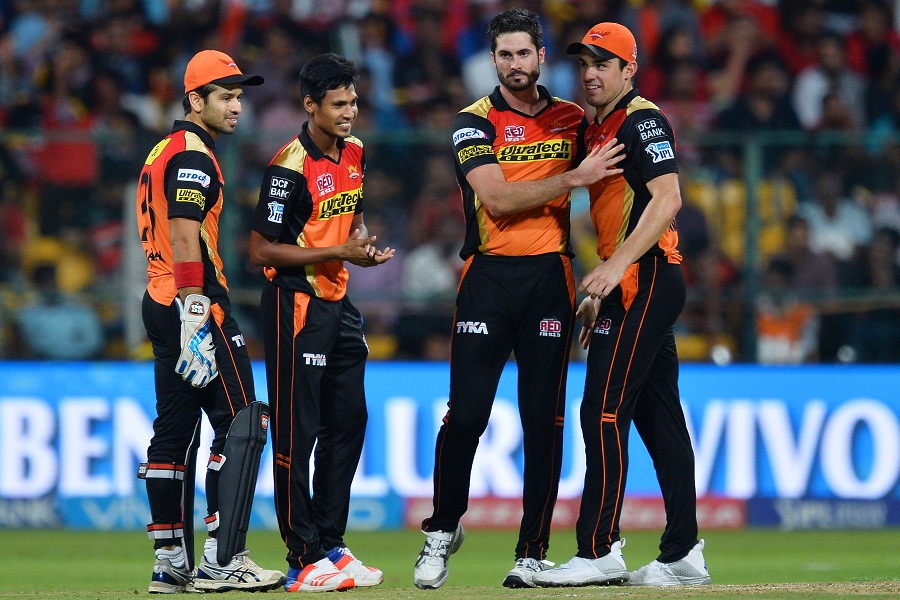 The wickets allowed Sunrisers' bowlers to tighten their grasp over the game