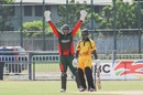Irfan Karim appeals for the wicket of Jack Vare, Papaua New Guinea v Kenya, World Cricket League Championship, Port Moresby, May 30, 2016