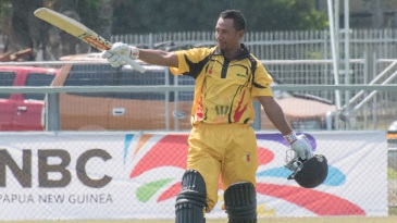 PNG opener Vani Morea celebrates his century
