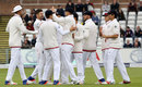 James Anderson is congratulated for the wicket of Milinda Siriwardana, England v Sri Lanka, 2nd Test, Chester-le-Street, 4th day, May 30, 2016