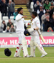 Dinesh Chandimal celebrates his century with Rangana Herath, England v Sri Lanka, 2nd Test, Chester-le-Street, 4th day, May 30, 2016