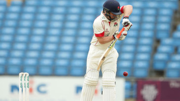 Steven Croft had to dig in as wickets fell