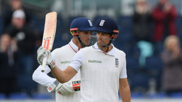 Alastair Cook reached 10,000 Test runs early in England's run-chase