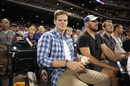 Steven Smith, Aaron Finch and George Bailey at a baseball game, New York, May 29, 2016
