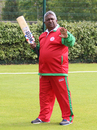 Oman coach Duleep Mendis goes through some instructions during warm-ups, Guernsey v Oman, ICC World Cricket League Division Five, St Clement, May 27, 2016