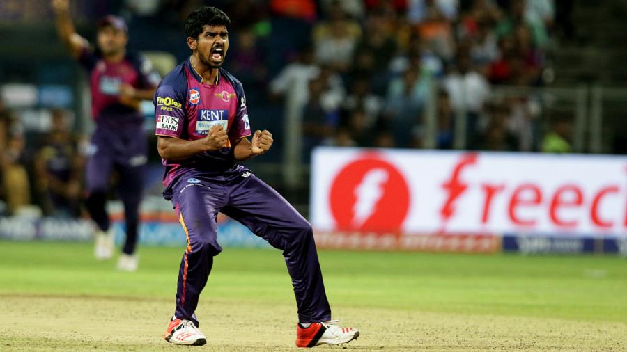 M Ashwin celebrates a wicket