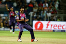 M Ashwin celebrates a wicket, Rising Pune Supergiants v Kolkata Knight Riders, IPL 2016, Pune, April 24, 2016
